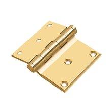 "3""x 3 1/2"" Half Surface Hinge - PVD Polished Brass"