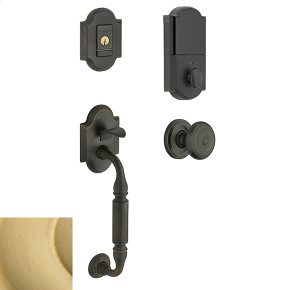 Satin Brass Evolved Canterbury Knob Sectional Handleset
