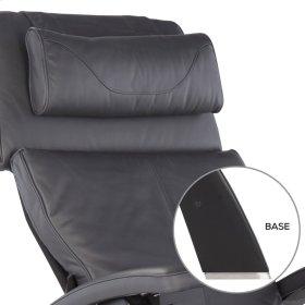 Perfect Chair PC-420 Classic Manual Plus - Gray Premium Leather - Matte Black