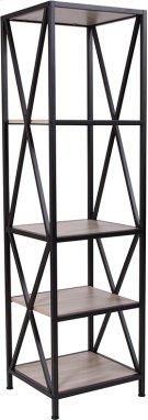 "Chelsea Collection 4 Shelf 61""H Cross Brace Bookcase in Sonoma Oak Wood Grain Finish Product Image"
