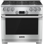 MieleHR 1134-1 G 36 inch range All Gas with DirectSelect, Twin convection fans and M Pro dual stacked burners