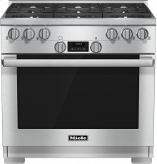 HR 1134 G 36 inch range All Gas with DirectSelect, Twin convection fans and M Pro dual stacked burners***FLOOR MODEL CLOSEOUT PRICING***