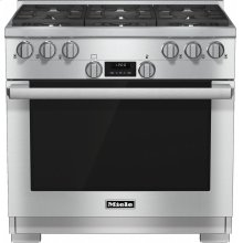 HR 1134-1 G 36 inch range All Gas with DirectSelect, Twin convection fans and M Pro dual stacked burners