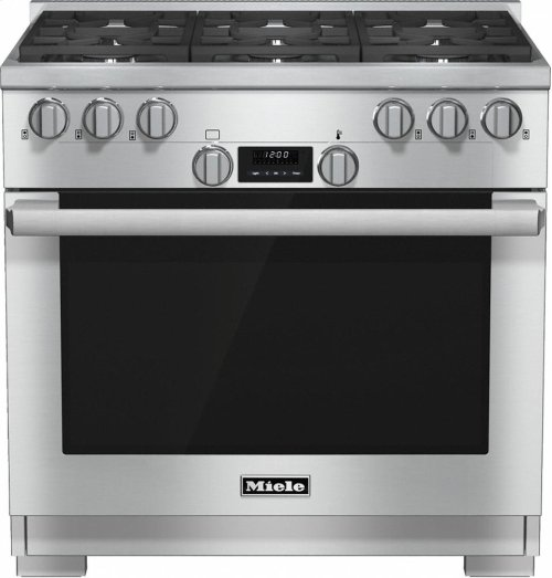 HR 1134 LP 36 inch range All Gas with DirectSelect, Twin convection fans and M Pro dual stacked burners