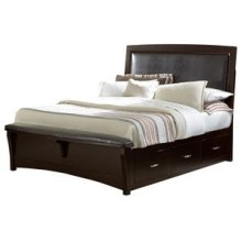 Upholstered Bed with Storage (Queen)