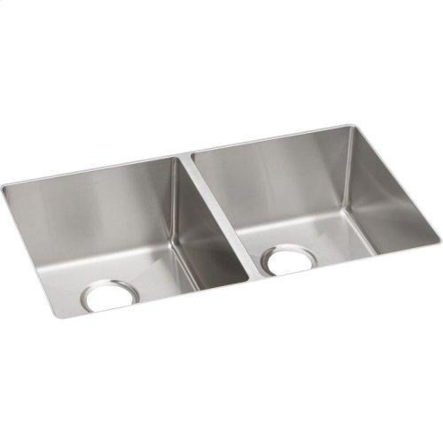 "Elkay Crosstown Stainless Steel 31-1/2"" x 18-1/2"" x 9"", Equal Double Bowl Undermount Sink"