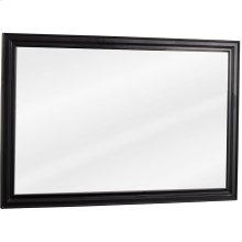 """42"""" x 28"""" Beveled glass mirror with Black finish."""