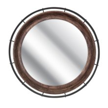 Zenovia Wood and Metal Mirror