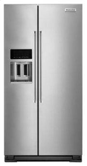 22.7 Cu. Ft. Counter Depth Side-by-Side Refrigerator with Exterior Ice and Water - Monochromatic Stainless Steel Product Image