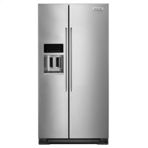 Kitchenaid22.7 Cu. Ft. Counter Depth Side-by-Side Refrigerator with Exterior Ice and Water - Monochromatic Stainless Steel