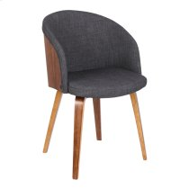 Armen Living Alpine Mid-Century Dining Chair in Charcoal Fabric with Walnut Wood Product Image