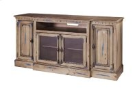 Breakfront Console - Denim Blue on Toffee Finish Product Image