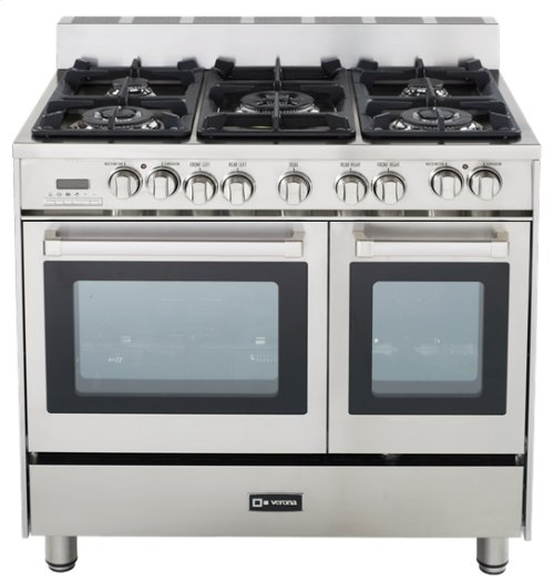 """Stainless Steel 36"""" Dual Fuel Convection Range with Double Oven"""