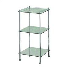 Essentials Freestanding Three Tier Glass Shelf Unit