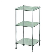 Essentials Freestanding Three Tier Glass Shelf Unit