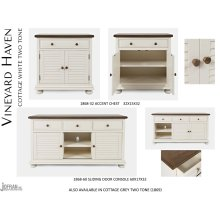 Vineyard Haven Console - Cottage White Two Tone