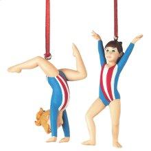 Gymnast Ornament (2 asstd).
