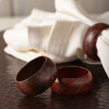 Copper Napkin Rings (Set of 4)