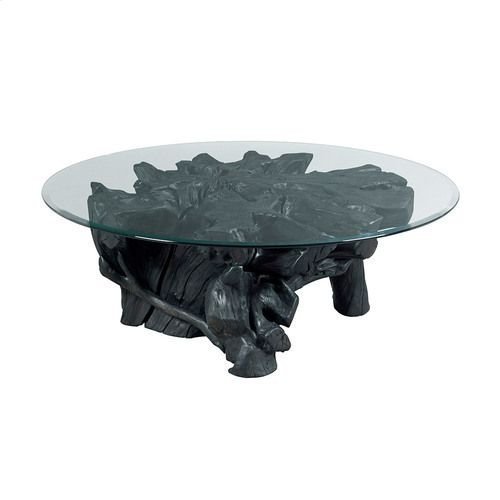 Hidden Treasures Charred Rootball Cocktail Table