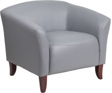 HERCULES Imperial Series Gray Leather Chair
