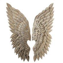 Whitewash Gold Angel Wing Wall Decor