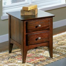 Metro II - Two Drawer Side Table - Ebony Brown Finish