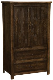 Two Drawer Wardrobe - Cottonwood - Premium