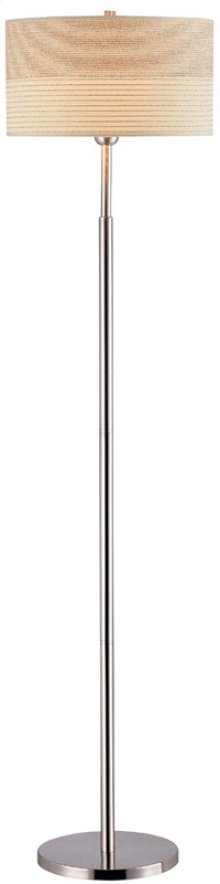 Floor Lamp, Ps W/2-tone Textured Shade, E27 Cfl 25w/3-way