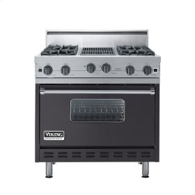 "Graphite Gray 36"" Open Burner Range - VGIC (36"" wide, four burners 12"" wide char-grill)"