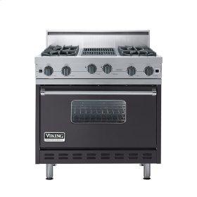"Graphite Gray 36"" Open Burner Range - VGIC (36"" wide, four burners 12"" wide char-grill)"
