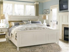 King Panel Bed - Cotton