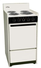 """Bisque 220v Electric Range In Slim 20"""" Width With Storage Compartment Product Image"""