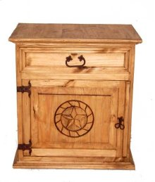 Mansion Nightstand W/ Rope Star