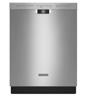 KitchenAid® 24'' 6-Cycle/5-Option Dishwasher, Pocket Handle - Stainless Steel