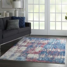 Etchings Etc02 Multicolor Rectangle Rug 4' X 6'