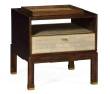 Small Lymed Mink Bedside Table for Tray