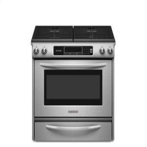 KitchenAid30-Inch 4-Burner Gas Slide-In Range, Architect® Series II - Stainless Steel