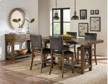 STANDARD 11536-11537 Benson Counter Height Trestle Table With 4 Chairs
