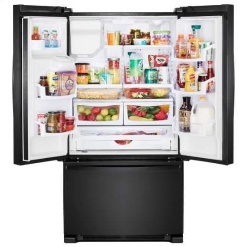 Whirlpool® 36-inch Wide French Door Refrigerator in Fingerprint-Resistant Stainless Steel - 25 cu. ft. - Black