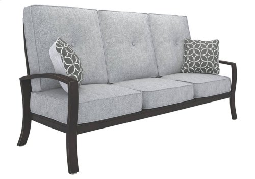 Castle Gray Patio Set - 4 Piece - Outdoor Patio Sofa, Lounge Chair, Cocktail Table, End Table