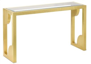 Morneau Brass Console Table - 30h x 52w x 16d