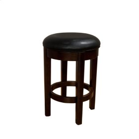 24 Seat Height Swivel Stool-Black