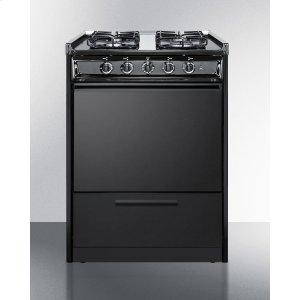 "Summit24"" Wide Slide-in Gas Range In Black With Sealed Burners and Electronic Ignition; Replaces Tnm616r/ttm6107csrt"