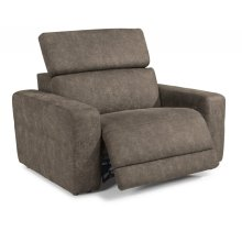 Sonic Fabric Power Recliner with Power Headrest