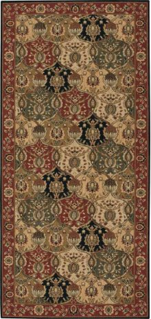 Hard To Find Sizes Grand Parterre Pt04 Multi Rectangle Rug 4'10'' X 10'7''