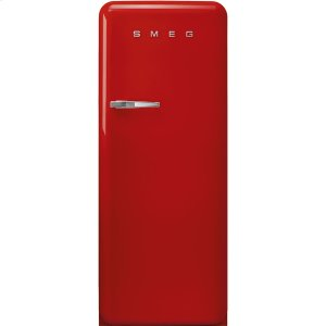 Smeg'50s Style fridge with ice compartment, Red, Right-hand hinge, 24'' in-width