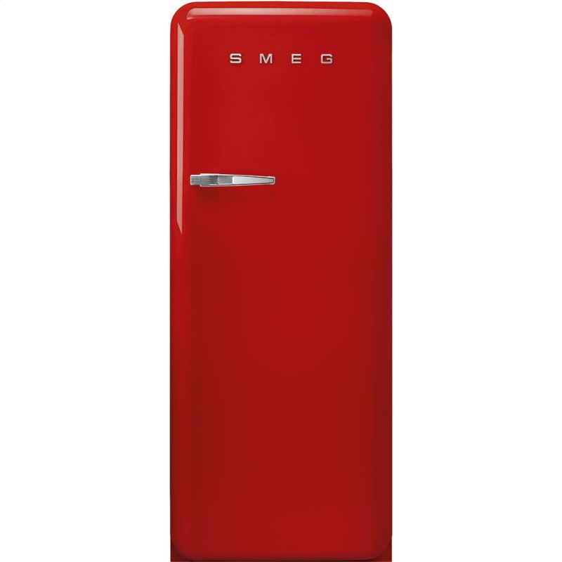 "24"" retro-style fridge, Red, Right-hand hinge"