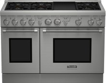 48 inch Professional Series Pro Harmony Standard Depth All Gas Range PRG486GDH