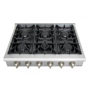 ThorProfessional 36 Inch 6 Burner Rangetop In Stainless Steel