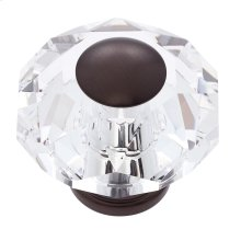 Old World Bronze 60 mm 8-Sided Crystal Knob